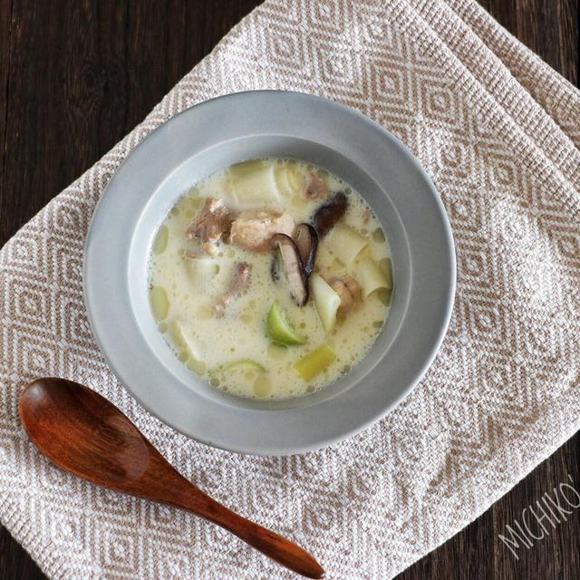 【レシピ有り】白だし香る*和風豆乳シチュー