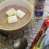 小豆と豆乳のマシュマロ入りジンジャーデザートスープ♪