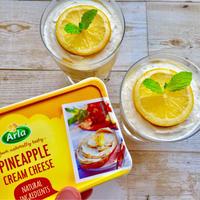 【簡単】パイナップル&レモンのふわふわグラスレアチーズ