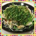 kajuダレでいただく、もやし・豆苗・豚肉のヘルシー蒸し煮(レシピ付) by kajuさん
