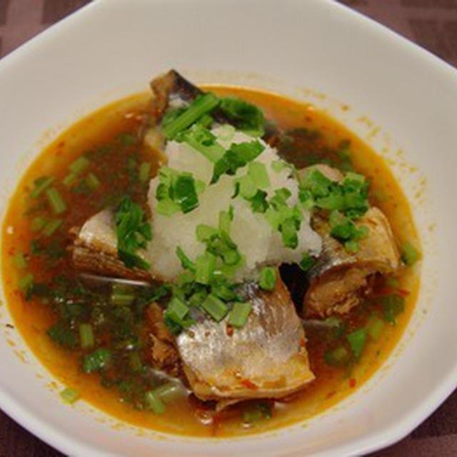 秋刀魚の四川風煮(圧力鍋)