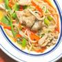 野菜室スッキリ!の節約おかず〜豚肉と千切り野菜のピリ辛とろみ炒め。