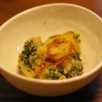 ブロッコリーのチーズフリット(卵なし)