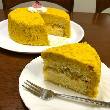 まおんの誕生日と父の日のカボチャのケーキ♪&プレゼント♪