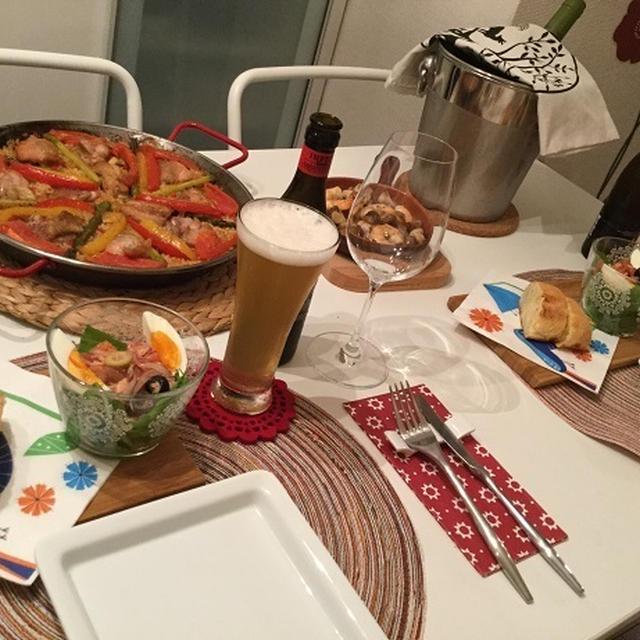 チキンのパエジャでスペイン祭り