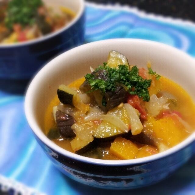 自家製萩野菜でラタトゥイユ