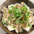 みつばたっぷりのあさり豆腐うどん~日本酒と楽しみたい麺料理。