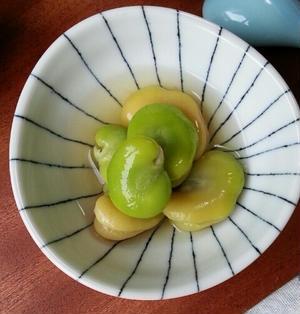 【レシピ】空豆のだし浸し
