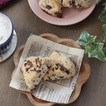 【レシピ】米粉パンケーキミックスで♪カフェ風スコーン