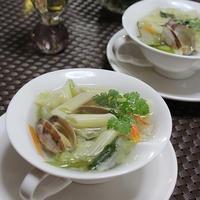 簡単!アサリ入りセロリとペンネの簡単スープ