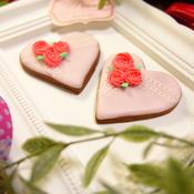ココアクッキーdeバレンタインアイシングクッキー