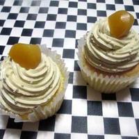 モンブラン風さつまいもクリームのカップケーキ