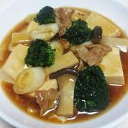 豆腐とブロッコリーのオイスターソース煮