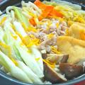 疲労回復&風邪予防!旨みと香りで美味しい〜柚子と生姜の寄せ鍋うどん。