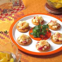 りんごチーズ on the クラッカー