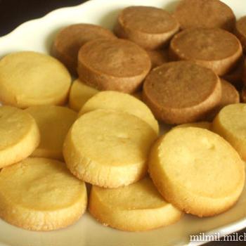有塩バターでクッキー