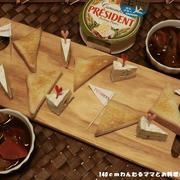 カリカリ食パンとカマンベールの簡単おつまみ♪