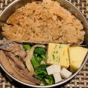 沖ぶり、瀬つき鯵、ヒラスのづけ焼き弁当