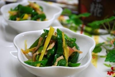 ピーマンと生姜の生しょうゆ糀炒め