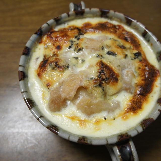 里芋とラフランスとブルーチーズのグラタン