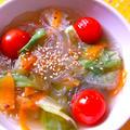 トマトとレタスの春雨スープ☆