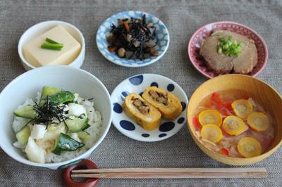 簡単・作り置きでスピード定食!きゅうりと長芋の即席丼など編