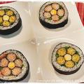 簡単■お花見に♪梅の花 no 太巻き祭り寿司■TVご紹介レシピヽ(´ω`*)ノ 飾り巻き寿司