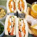 ■散策弁当【七沢ウォーキングに持参しました サンドイッチやゼリーなどです♪】