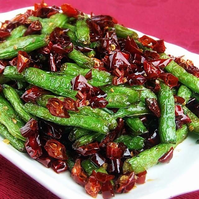 乾煸四季豆│四川風サヤインゲンのピリ辛炒め