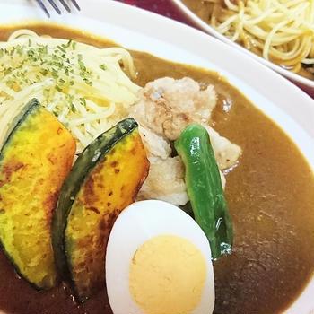 【レシピ】リメイク★簡単★時短★2度美味しい【ごろごろチキンのスープカレースパゲティ】