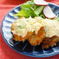 【モニター】茨城産ヒラメのパン粉焼き~梅と水菜のシャキシャキタルタルソースで~