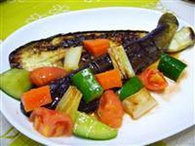 焼き茄子と彩り野菜☆