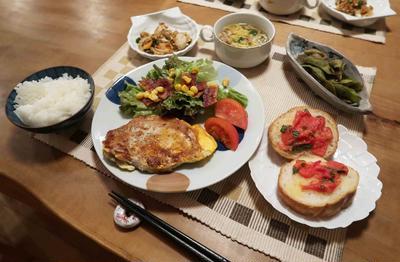 豚テキ~ピカタ風の晩ご飯