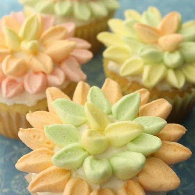つくれぽ:お花のカップケーキ