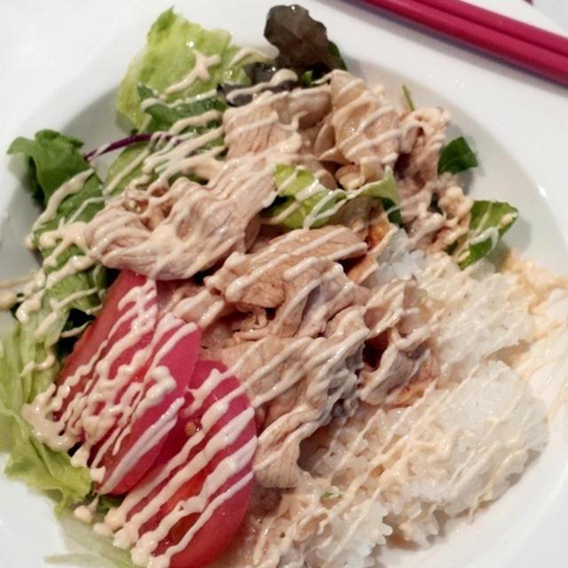 豚しゃぶサラダのっけ寿司