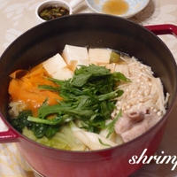 鍋の季節到来〜(^ ^)おうちにあるもので♡ちゃんこ鍋
