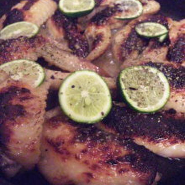 鶏手羽先の塩麹グリルすだち生姜風味