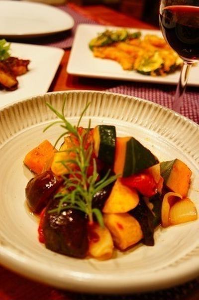 ラタトゥユと夏野菜の香草パン粉焼きと・・・