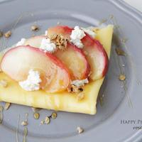 5分で作るりんご煮で☆りんごとカッテージチーズのクレープ
