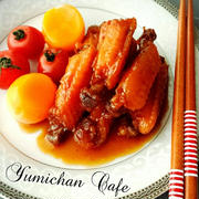 ♡ヤマサのまる生ポン酢de作る♪若鶏スペアリブのハニーポン酢煮の作り方♡【簡単*まる生ポン酢】