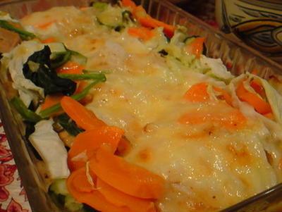 鮭と野菜のチーズグリル。