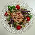 紅みず菜とツナのサラダ