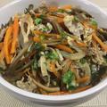豚肉の柳川風煮♪ 鰆の西京焼き♪ 青梗菜とちくわの簡単和え♪