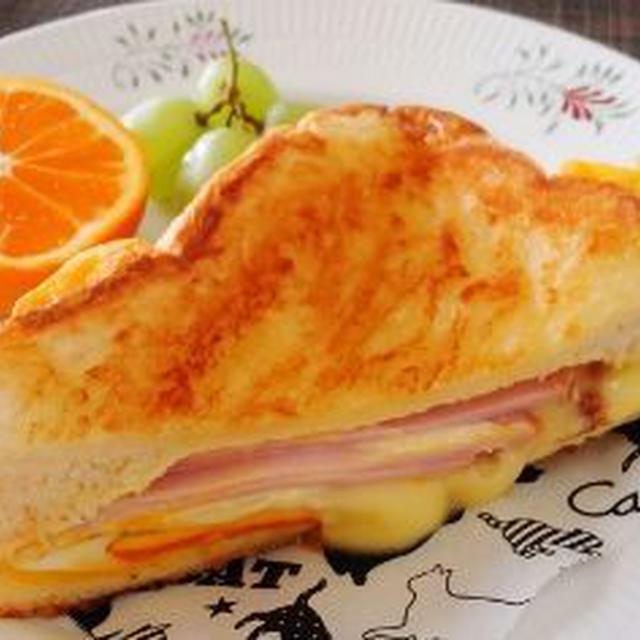 チーズがとろとろ食パンdeパニーニ風♪