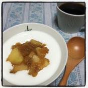 シナモンたっぷりのりんご煮