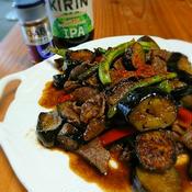 夏野菜と牛肉の元気がでる炒め物