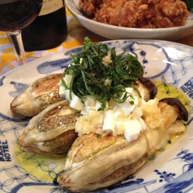 焼き茄子にホースラディッシュとオリーブオイルのソース【スパイス大使】