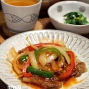 カリカリ豚と野菜のケチャップ炒め。中華なごはん。