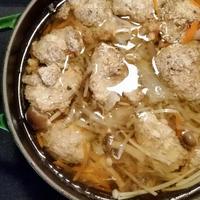 ストウブでゆず胡椒の鶏団子鍋