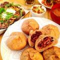 【ふすまパン肉まん】低糖質桜海老まんと自家製テンペの味噌マヨ焼き